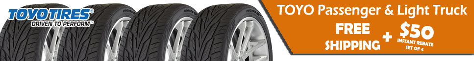 Toyo Tire Sale and Free Shipping