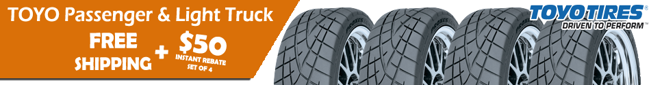 Toyo Tires $50 Instant Rebate on a set of 4