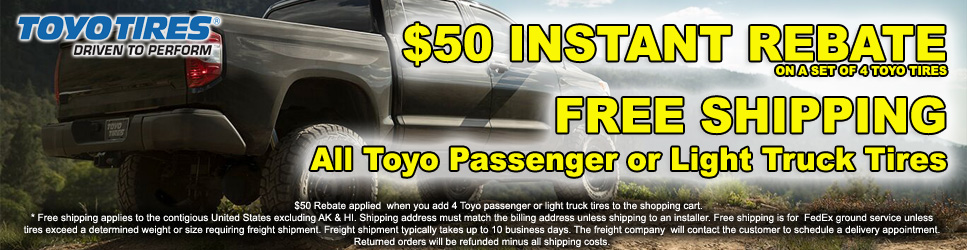 Free Shipping on Toyo Tires