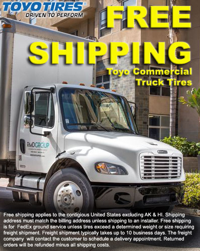 Free Shipping on Toyo Commercial Truck Tires